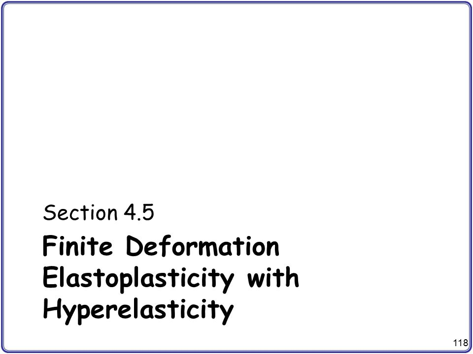 Finite Deformation Elastoplasticity with Hyperelasticity