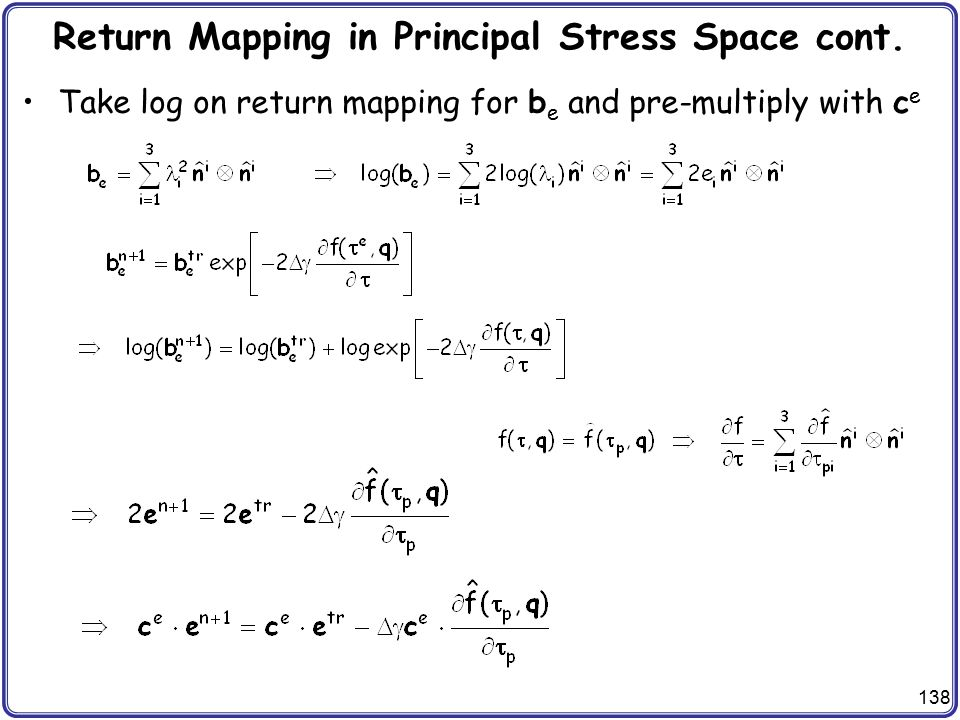 Return Mapping in Principal Stress Space cont.