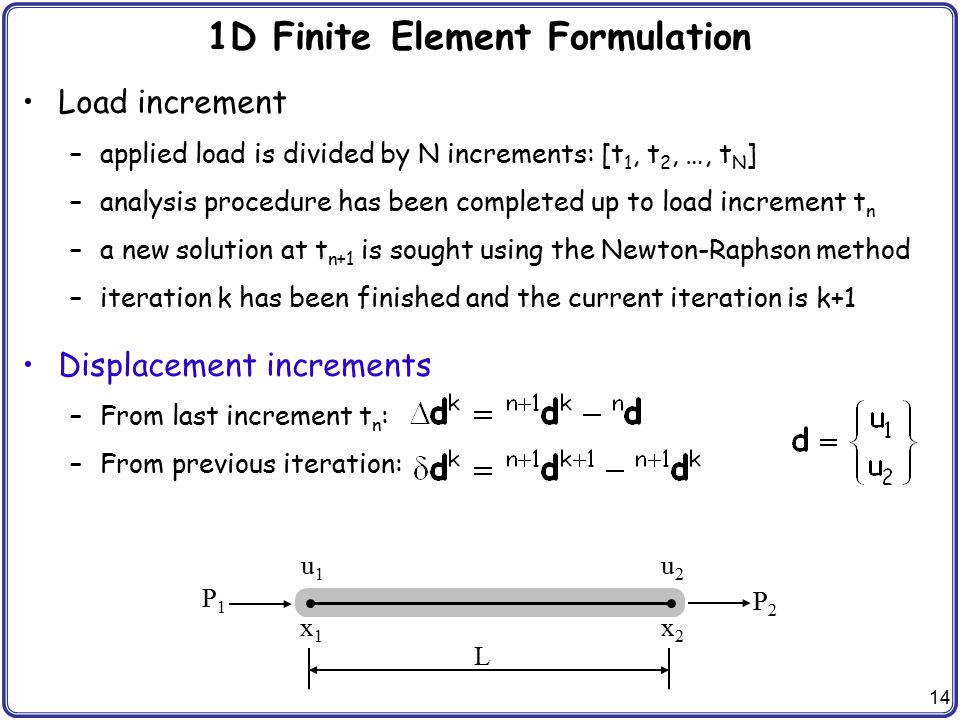 1D Finite Element Formulation