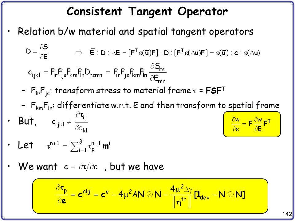 Consistent Tangent Operator