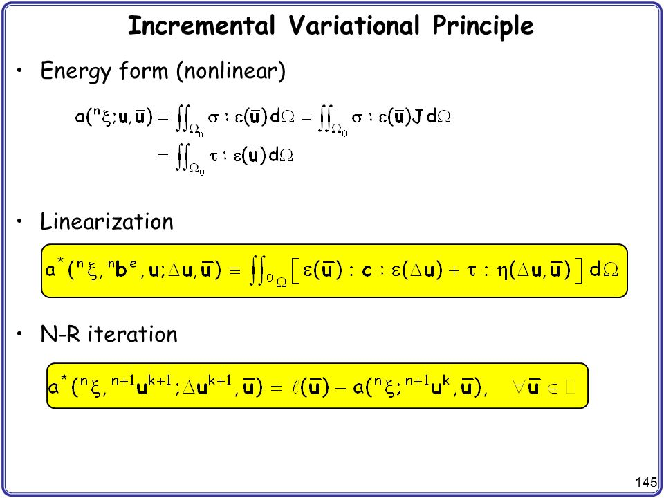 Incremental Variational Principle