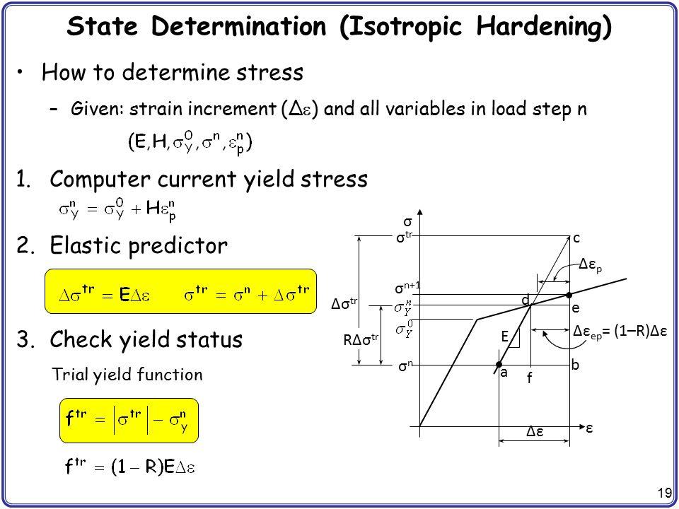 State Determination (Isotropic Hardening)
