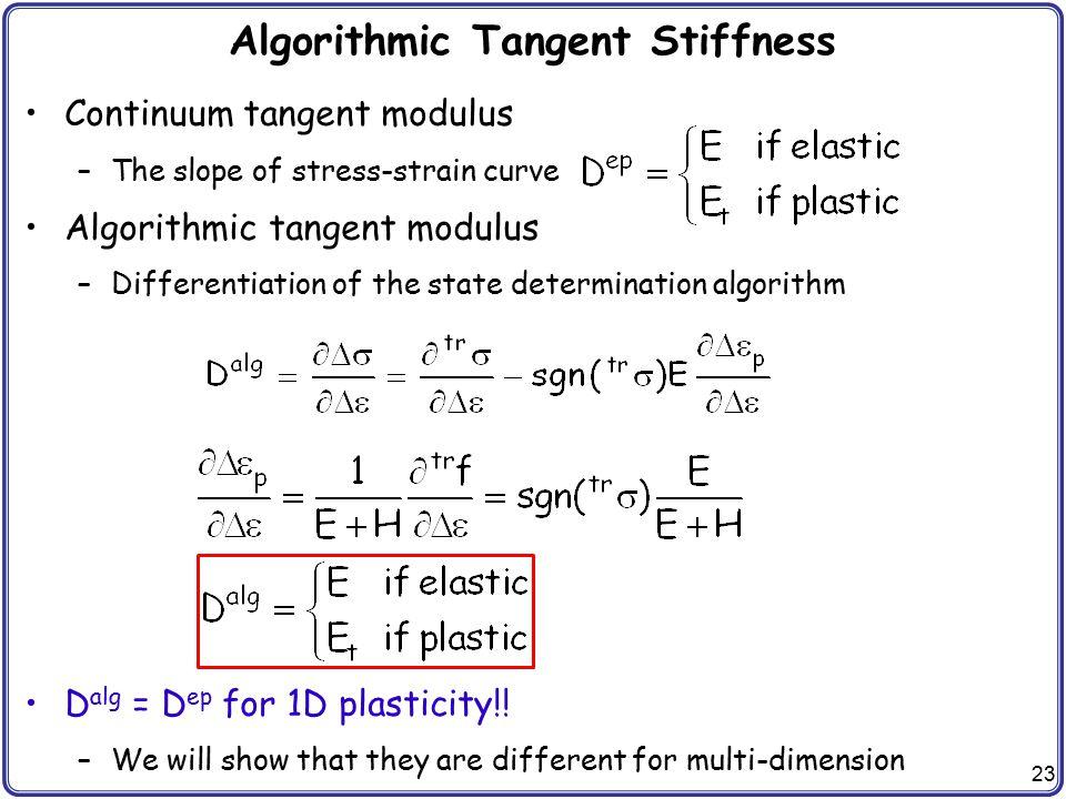 Algorithmic Tangent Stiffness