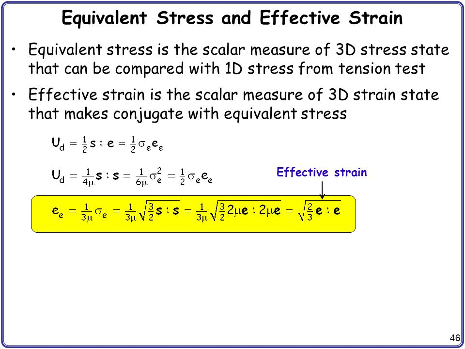 Equivalent Stress and Effective Strain