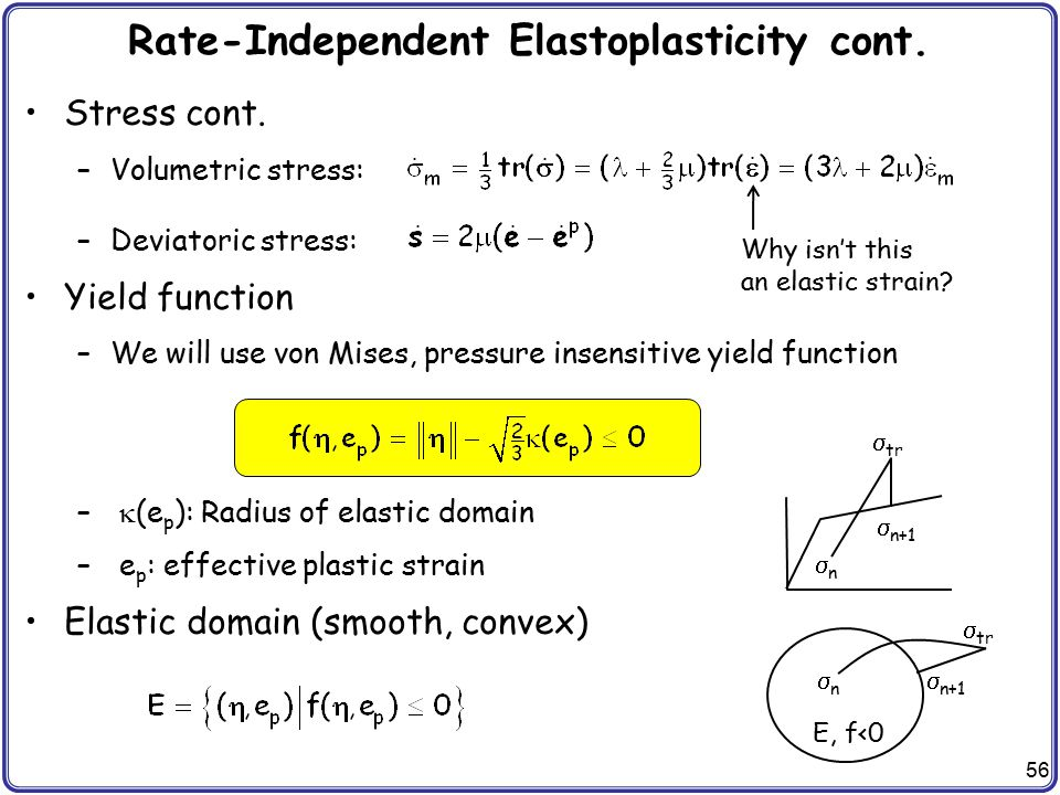 Rate-Independent Elastoplasticity cont.