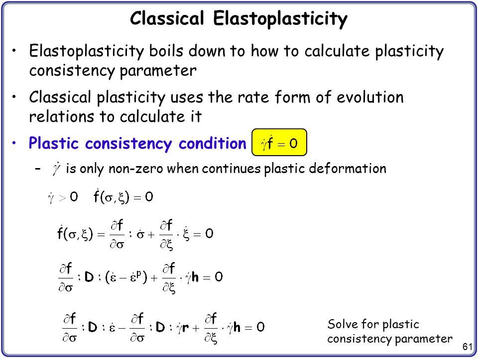 Classical Elastoplasticity