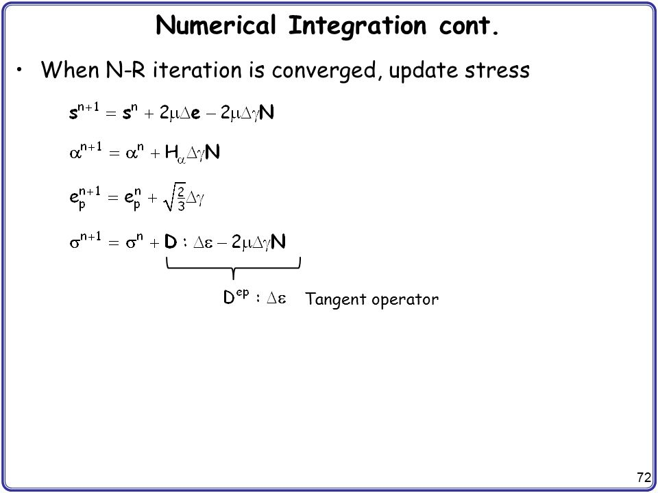 Numerical Integration cont.