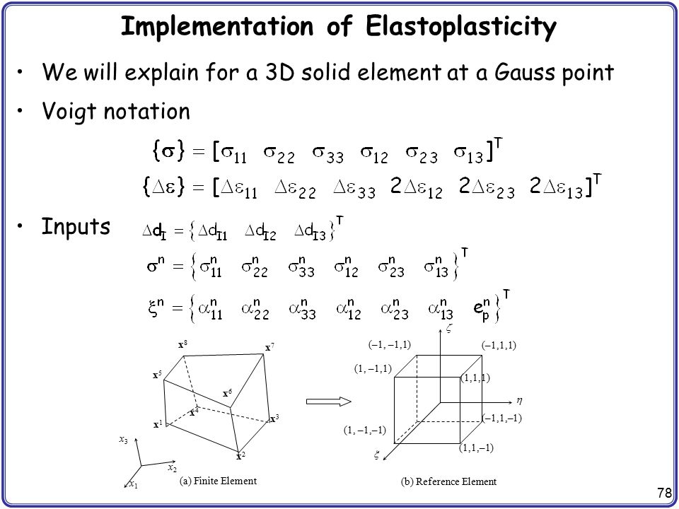 Implementation of Elastoplasticity