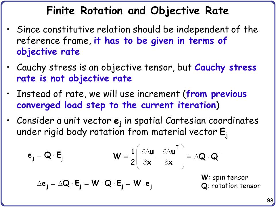 Finite Rotation and Objective Rate