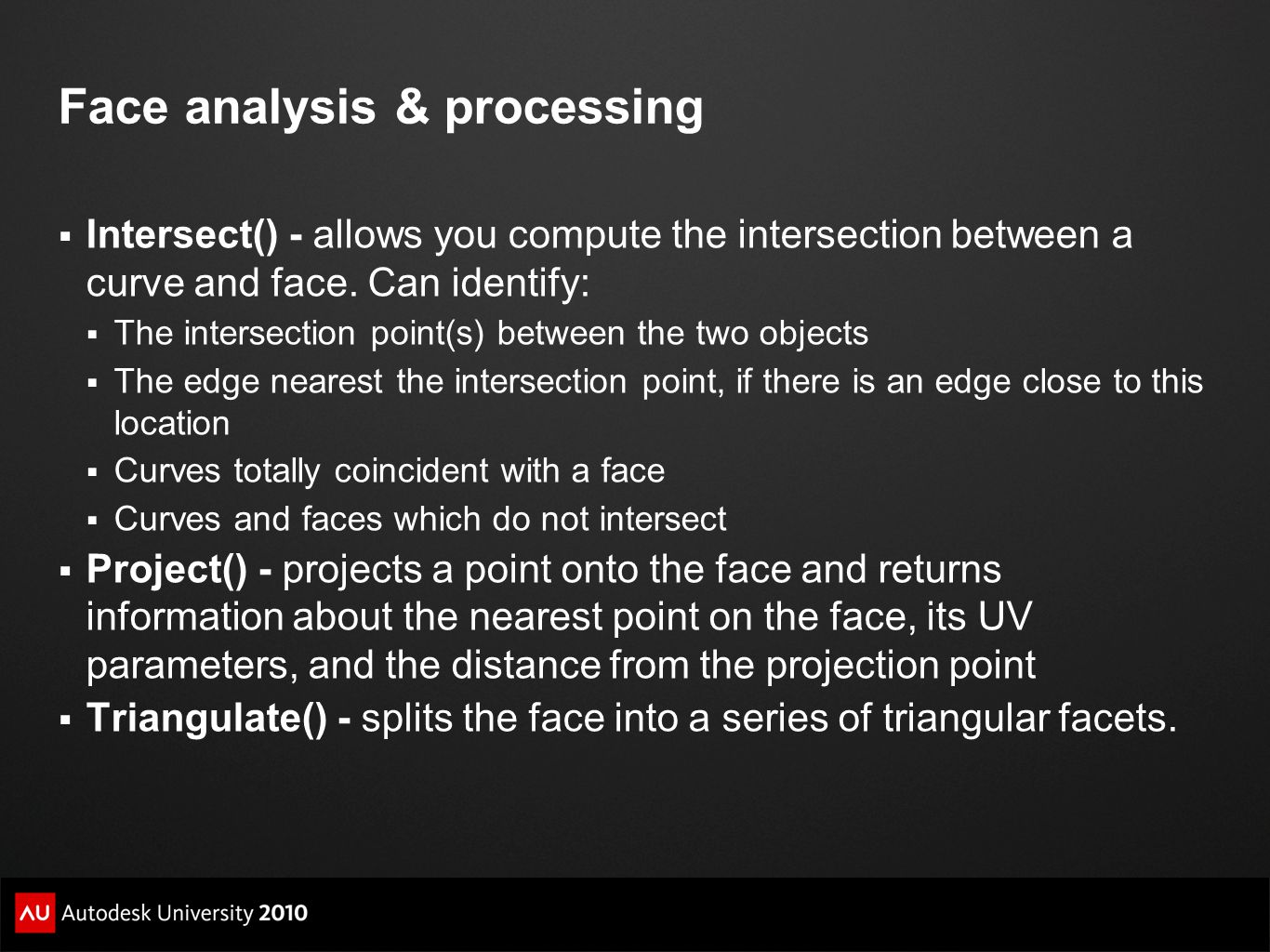 Face analysis & processing