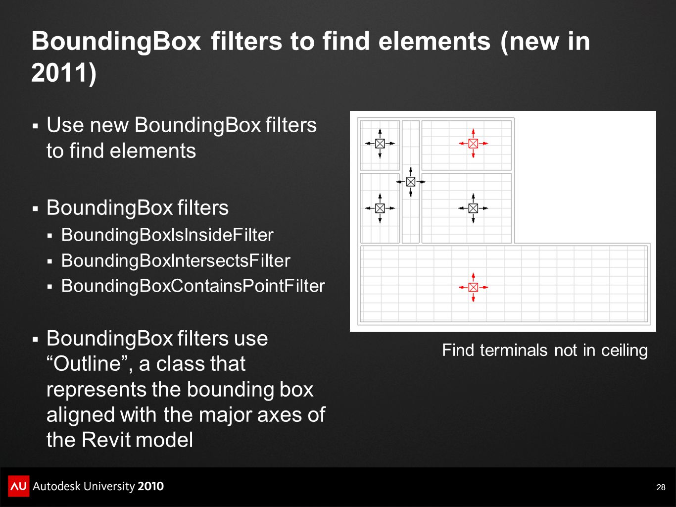 BoundingBox filters to find elements (new in 2011)