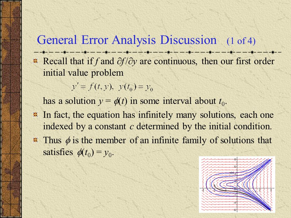 General Error Analysis Discussion (1 of 4)