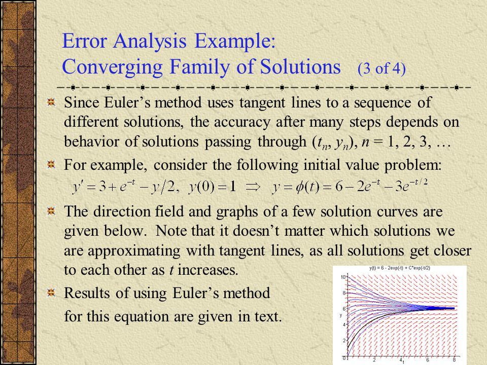 Error Analysis Example: Converging Family of Solutions (3 of 4)