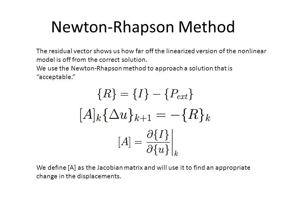 Newton-Rhapson Method