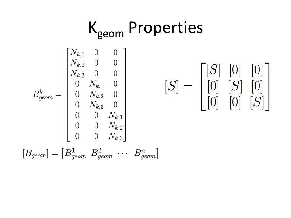 Kgeom Properties