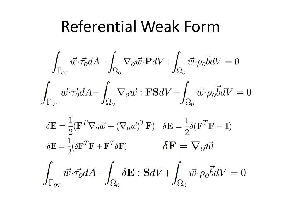 Referential Weak Form