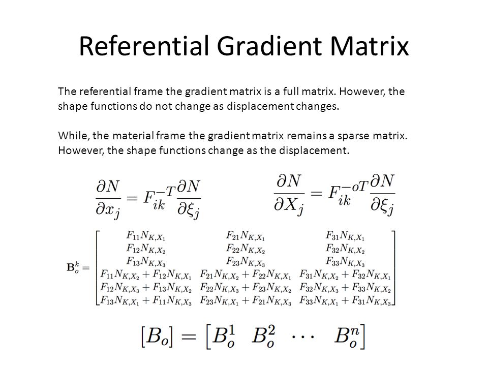 Referential Gradient Matrix