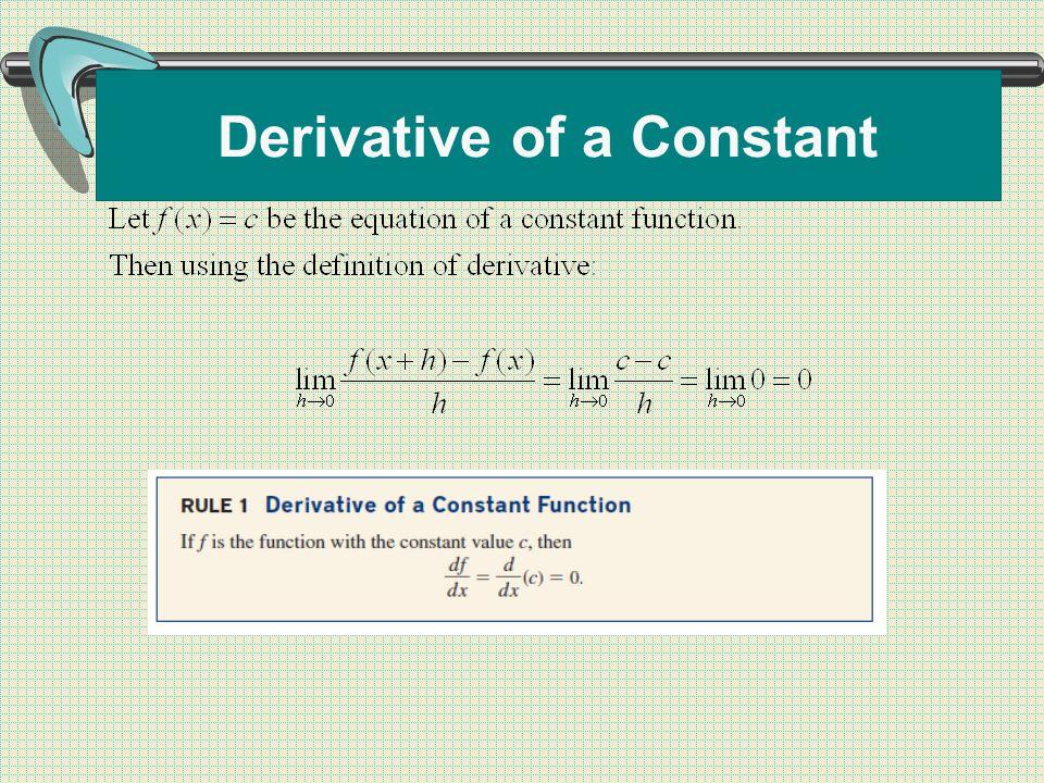 Derivative of a Constant