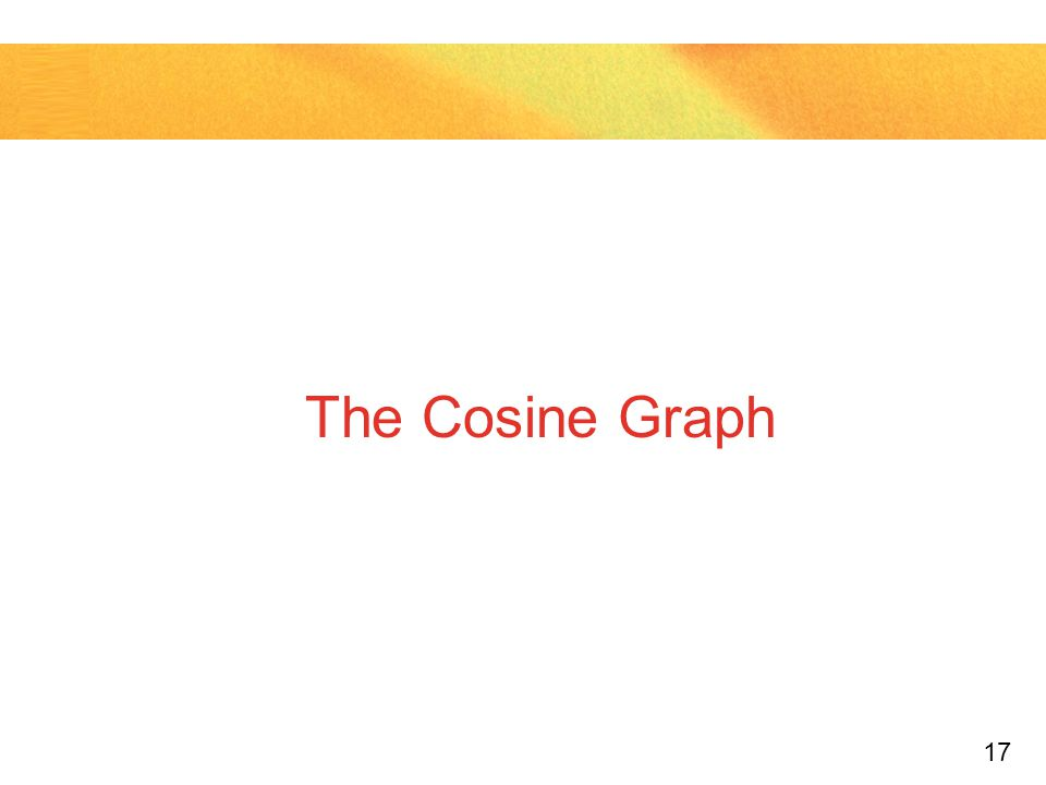 The Cosine Graph