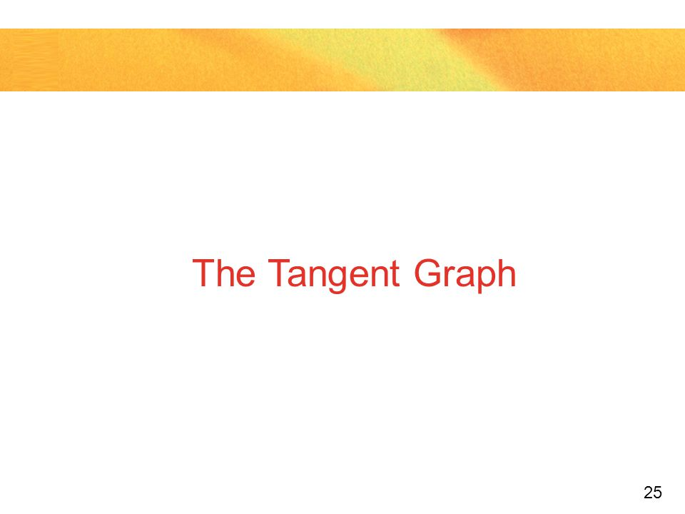 The Tangent Graph