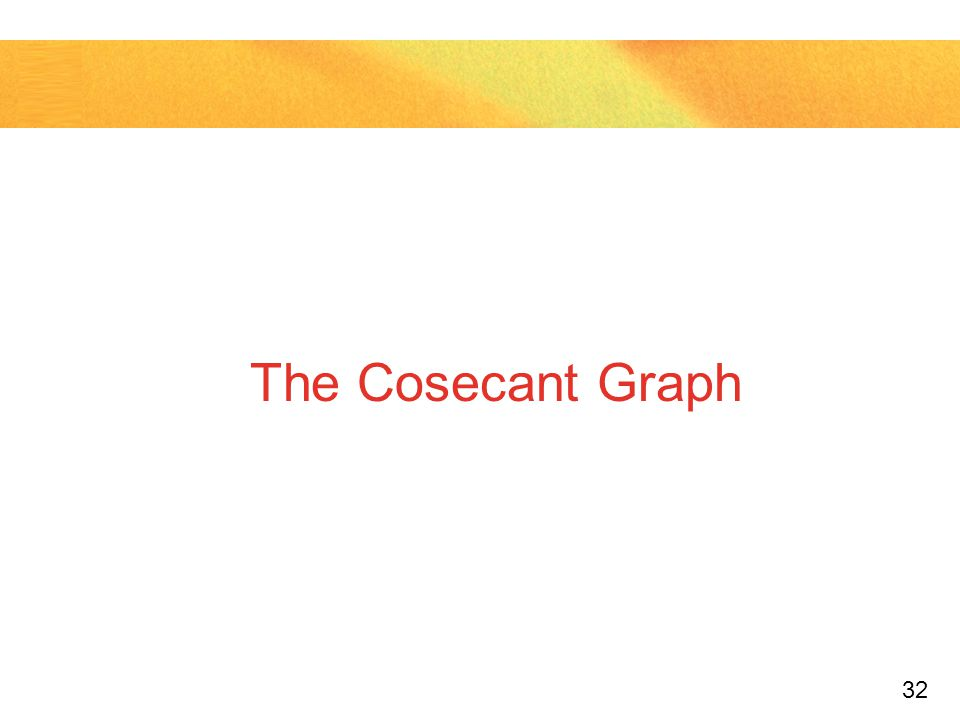 The Cosecant Graph