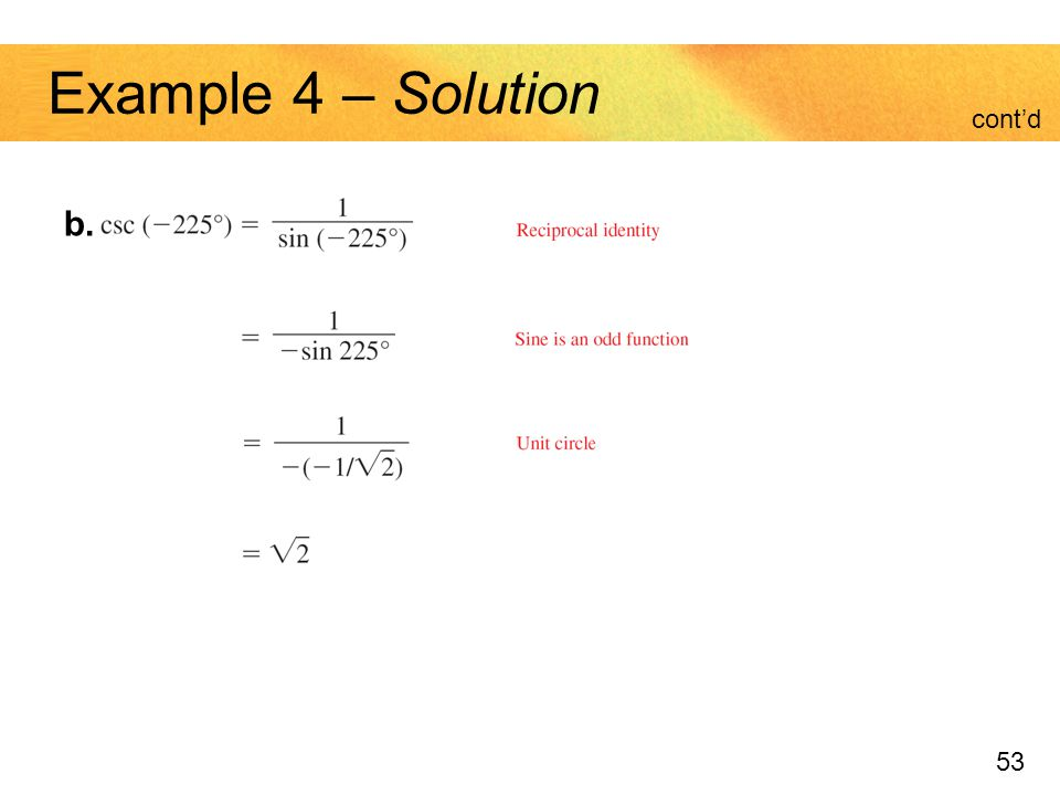 Example 4 – Solution cont'd b.