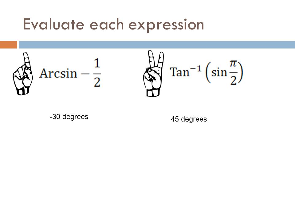 Evaluate each expression