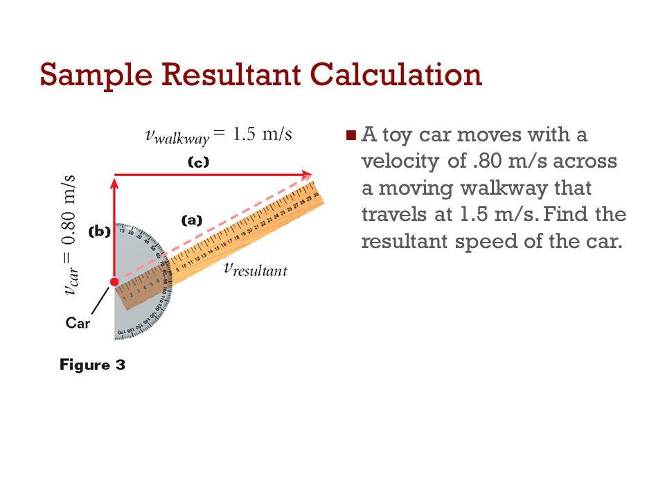 Sample Resultant Calculation