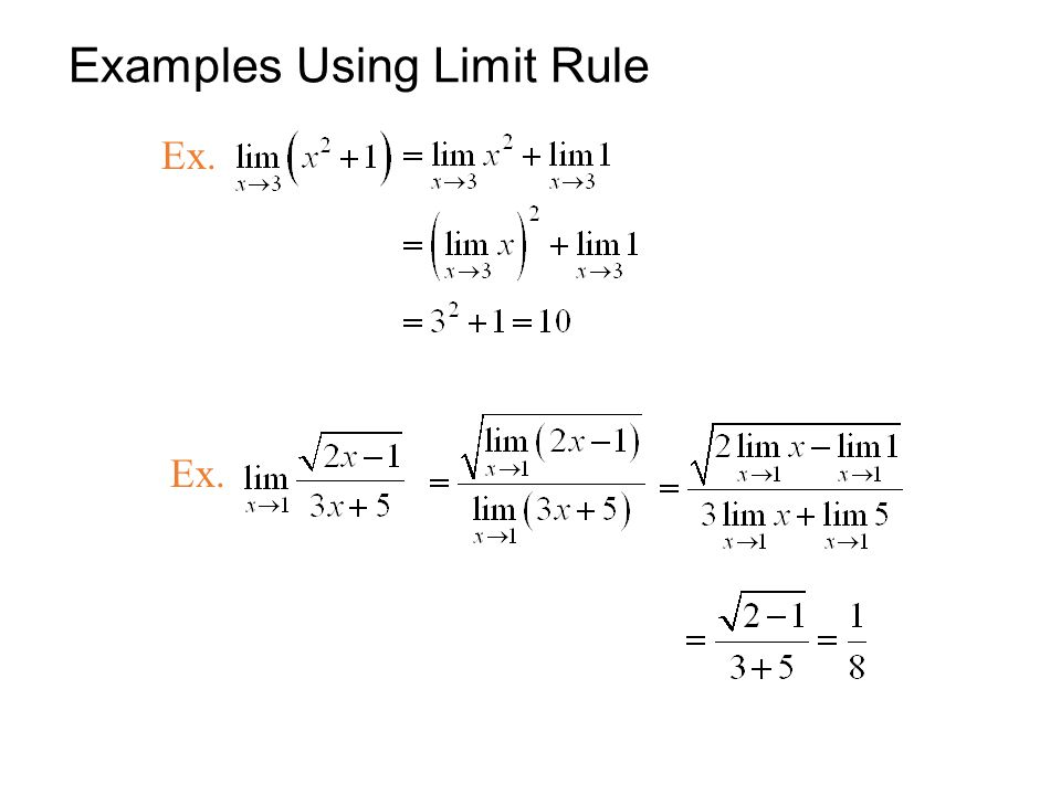Examples Using Limit Rule