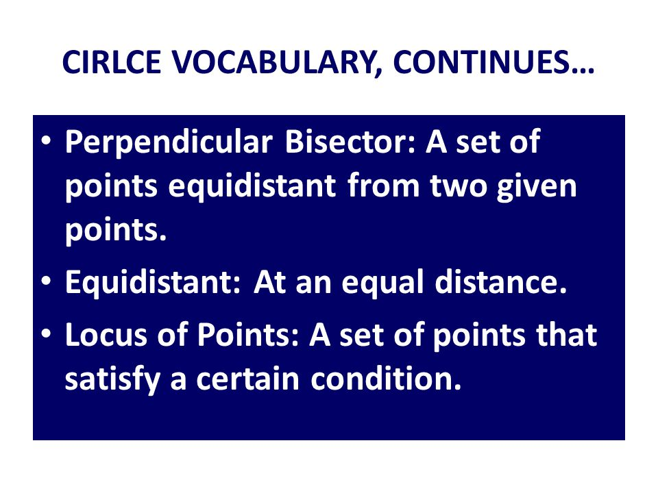 CIRLCE VOCABULARY, CONTINUES…