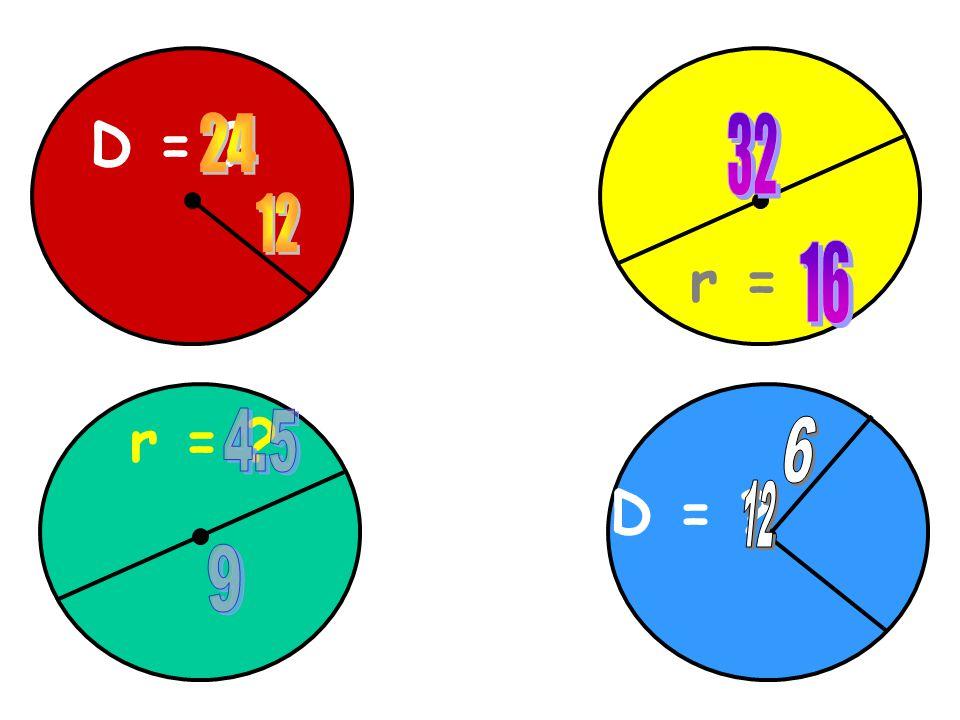 D = 24 32 12 r = 16 r = 4.5 6 D = 12 9