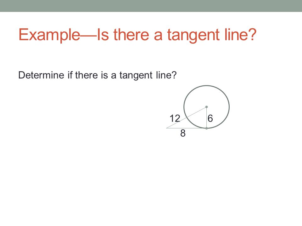 Example—Is there a tangent line
