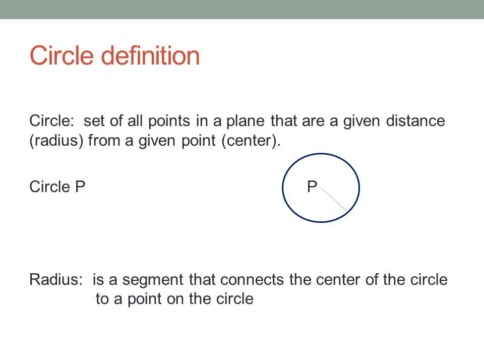 Circle definition