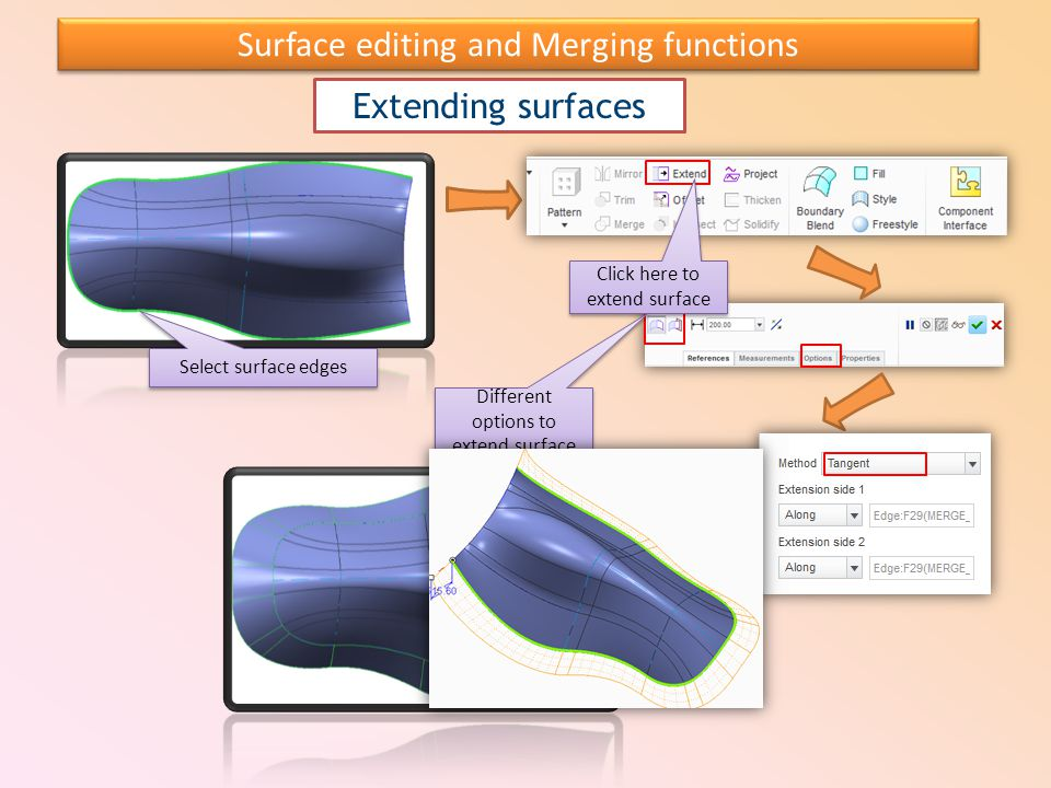 Surface editing and Merging functions