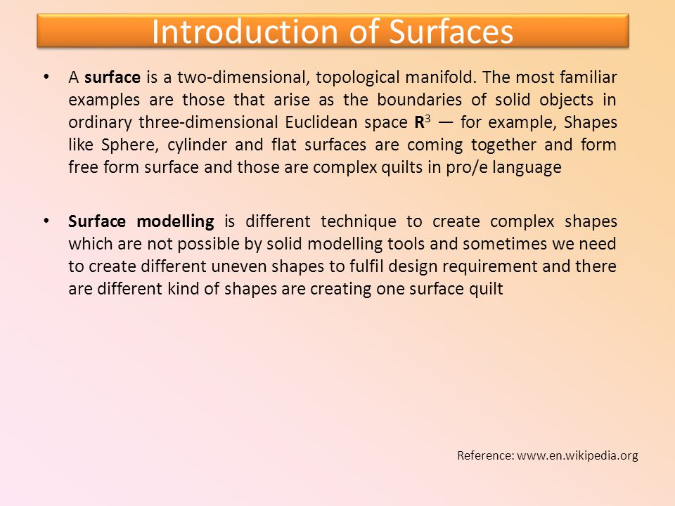 Introduction of Surfaces