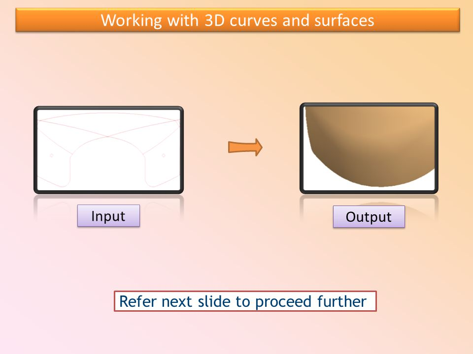 Working with 3D curves and surfaces