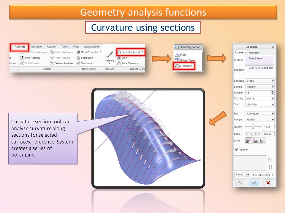 Geometry analysis functions