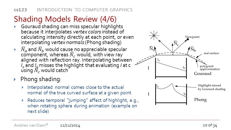 Shading Models Review (4/6)