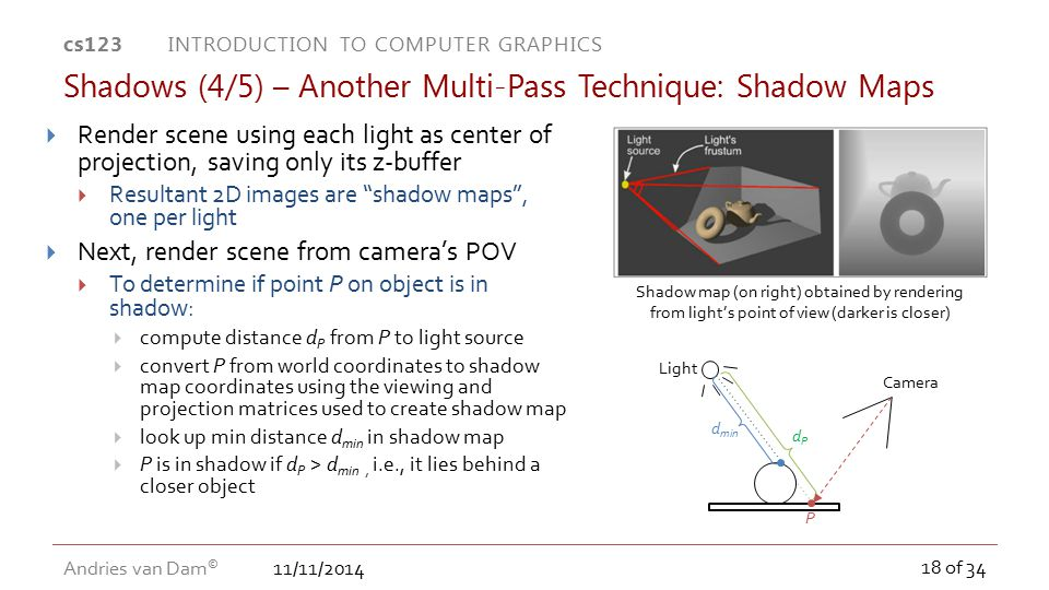 Shadows (4/5) – Another Multi-Pass Technique: Shadow Maps