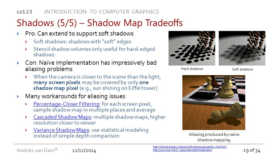 Shadows (5/5) – Shadow Map Tradeoffs