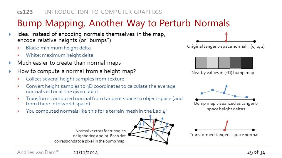 Bump Mapping, Another Way to Perturb Normals