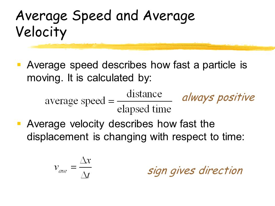 how to calculate mean velocity