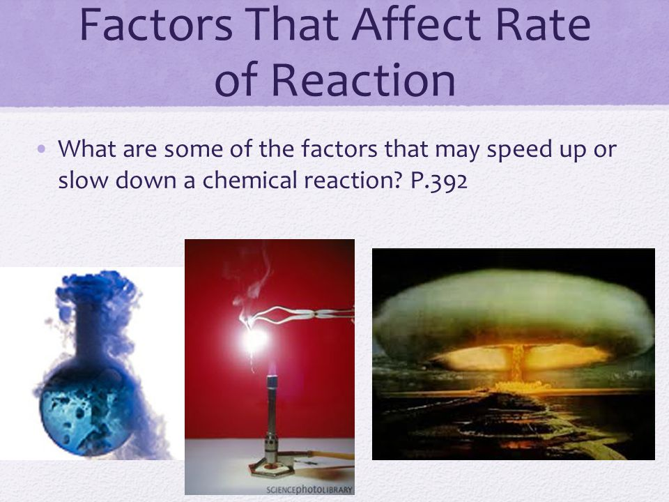 Factors That Affect Rate of Reaction