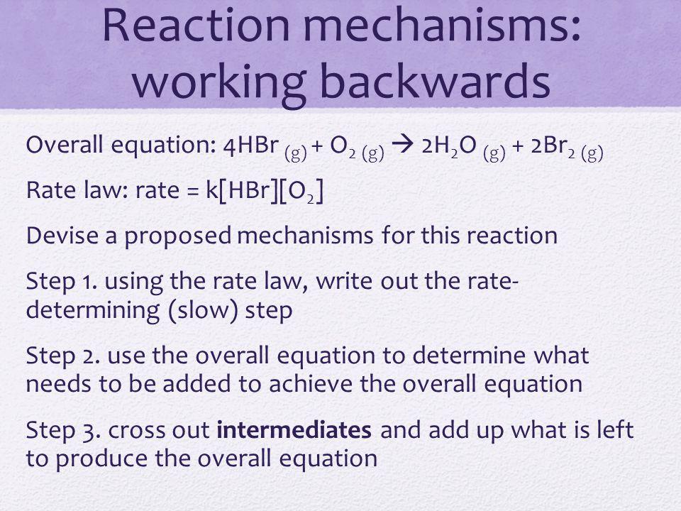 Reaction mechanisms: working backwards