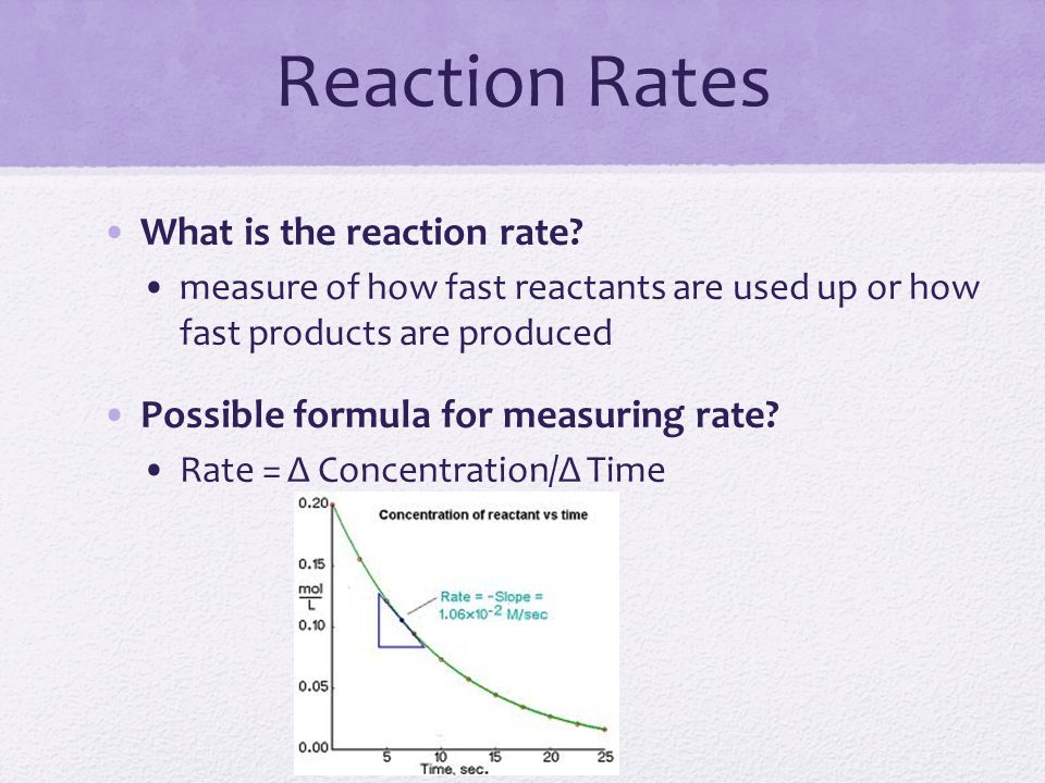 Reaction Rates What is the reaction rate
