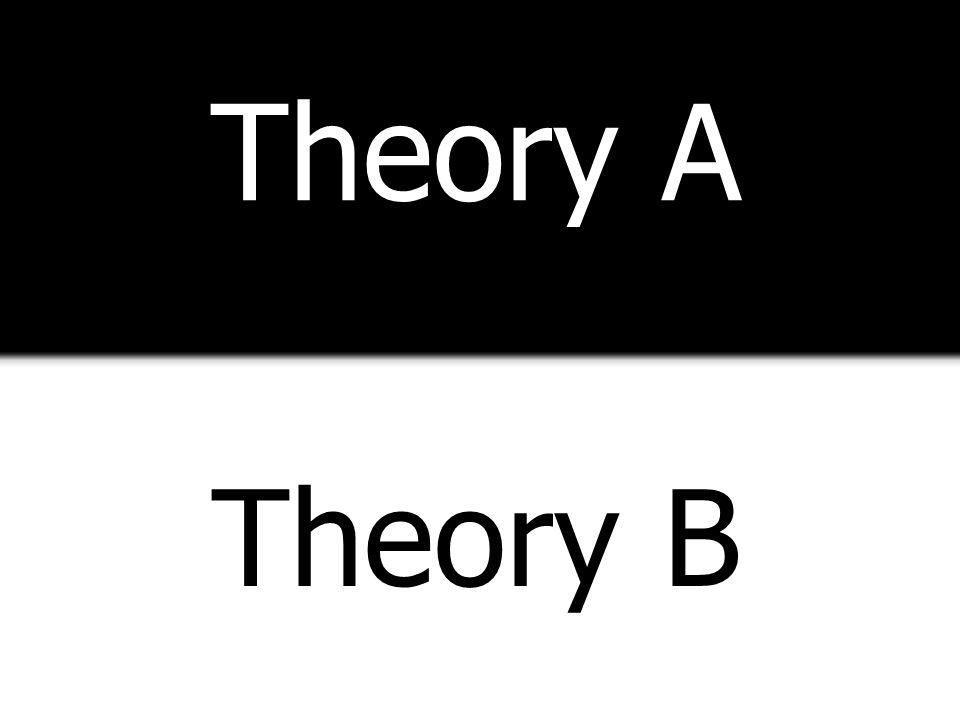 Theory A Theory B Both theory and practice