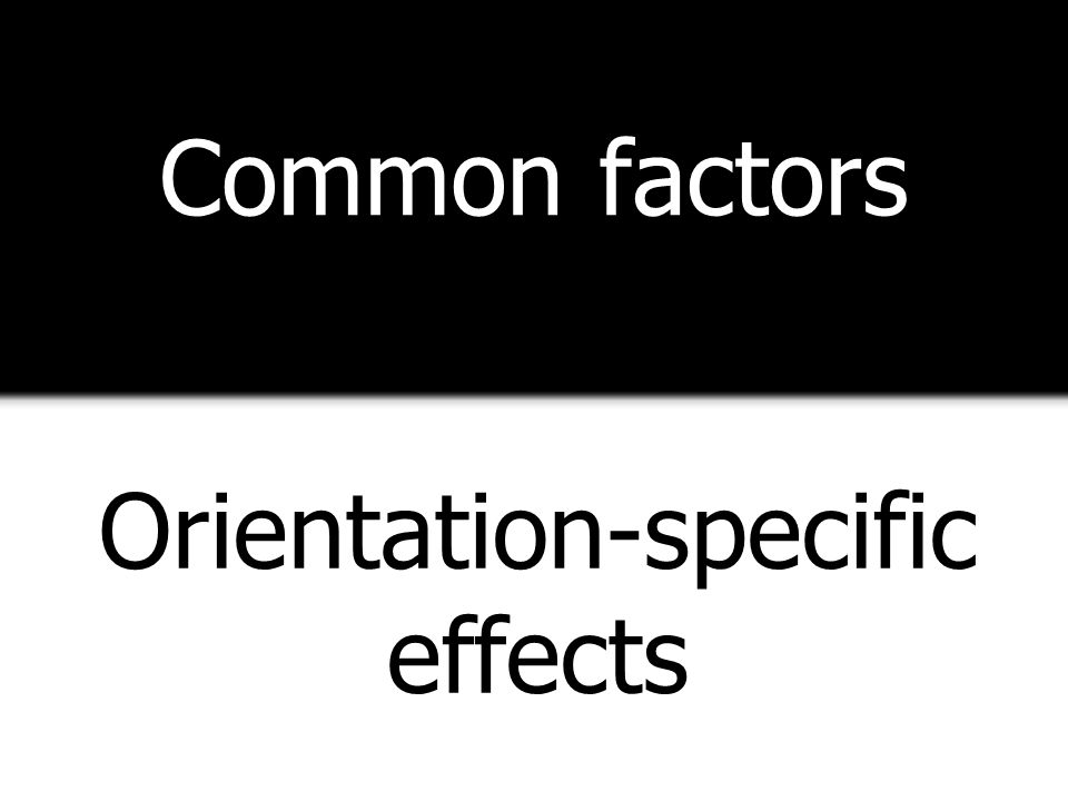Orientation-specific effects