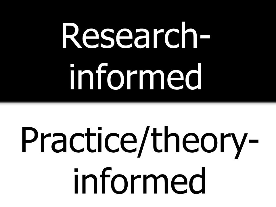 Practice/theory-informed