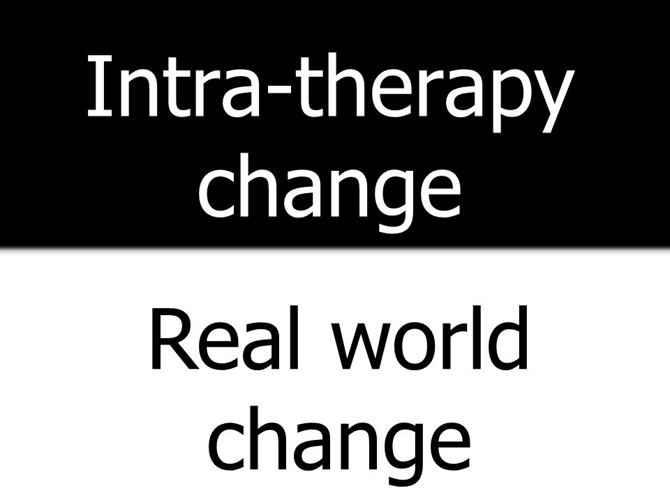 Intra-therapy change Real world change