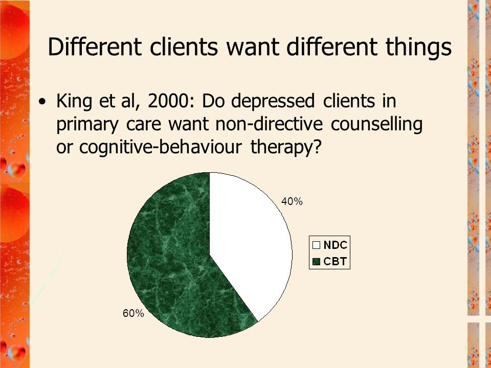 Different clients want different things